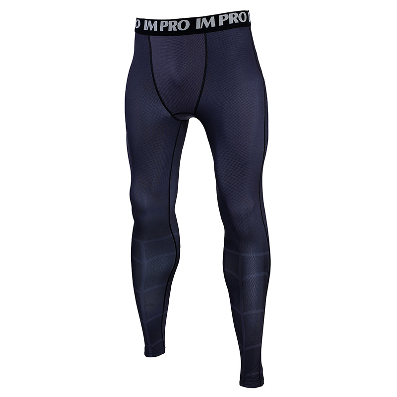 Trousers Male Leggings Compression-Tights-Pants Printed-Pattern Fitness The Into 3D Spider-Verse