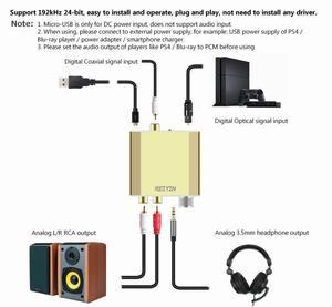 Image 2 - Reiyin DAC 192kHz 24bit Optical Coaxial Audio Converter for HD TV DVD XBOX PS4 Game console