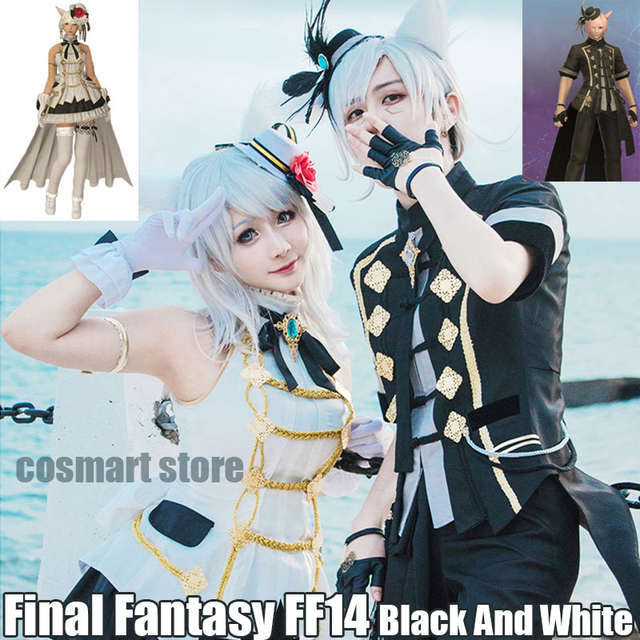 US $94 99 5% OFF|Game Final Fantasy FF14 figure Hinamatsuri Black And White  Idol Uniform Dress Halloween Cosplay costumes for women men NEW-in Game