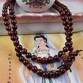 8 mm el budismo tibetano 108 Lobular cuentas de sándalo rojo Mala collar
