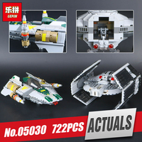 LEPIN 05030 722Pcs Space Star Model Wars Vader Tie Advanced VS A Wing Starfighter Building