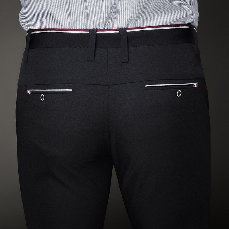78cfba6ca94 Jbersee Mens Black Dress Pants Formal Pants Slim Fit Wedding Men Black Suit  Pants Business Office Casual Mens Dress Trousers-in Suit Pants from Men s  ...