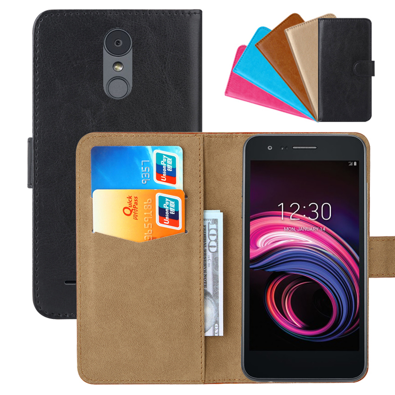 Luxury Wallet Case For LG Aristo 3 PU Leather Retro Flip Cover Magnetic Fashion Cases Strap