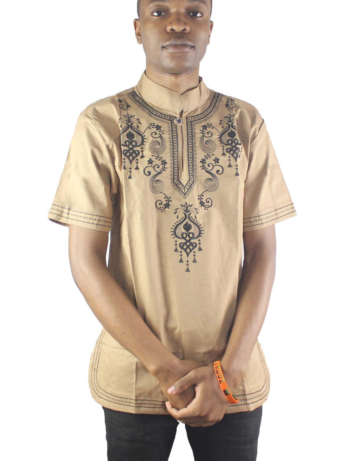 Africa Dashiki Embroidery Men s Ethnic Tops Vintage Tunic Shirts For Wedding in Africa Clothing from Novelty Special Use