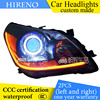 Hireno Custom Modified Headlamp For Toyota Verso 2011 15 Headlight Assembly Car Styling Angel Lens Beam