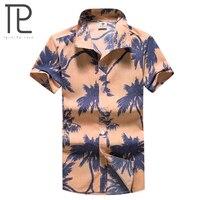 Tailor Pal Love 2018 Hot Mens Hawaiian Shirts Casual Short Sleeve Summer Beach Men Shirt