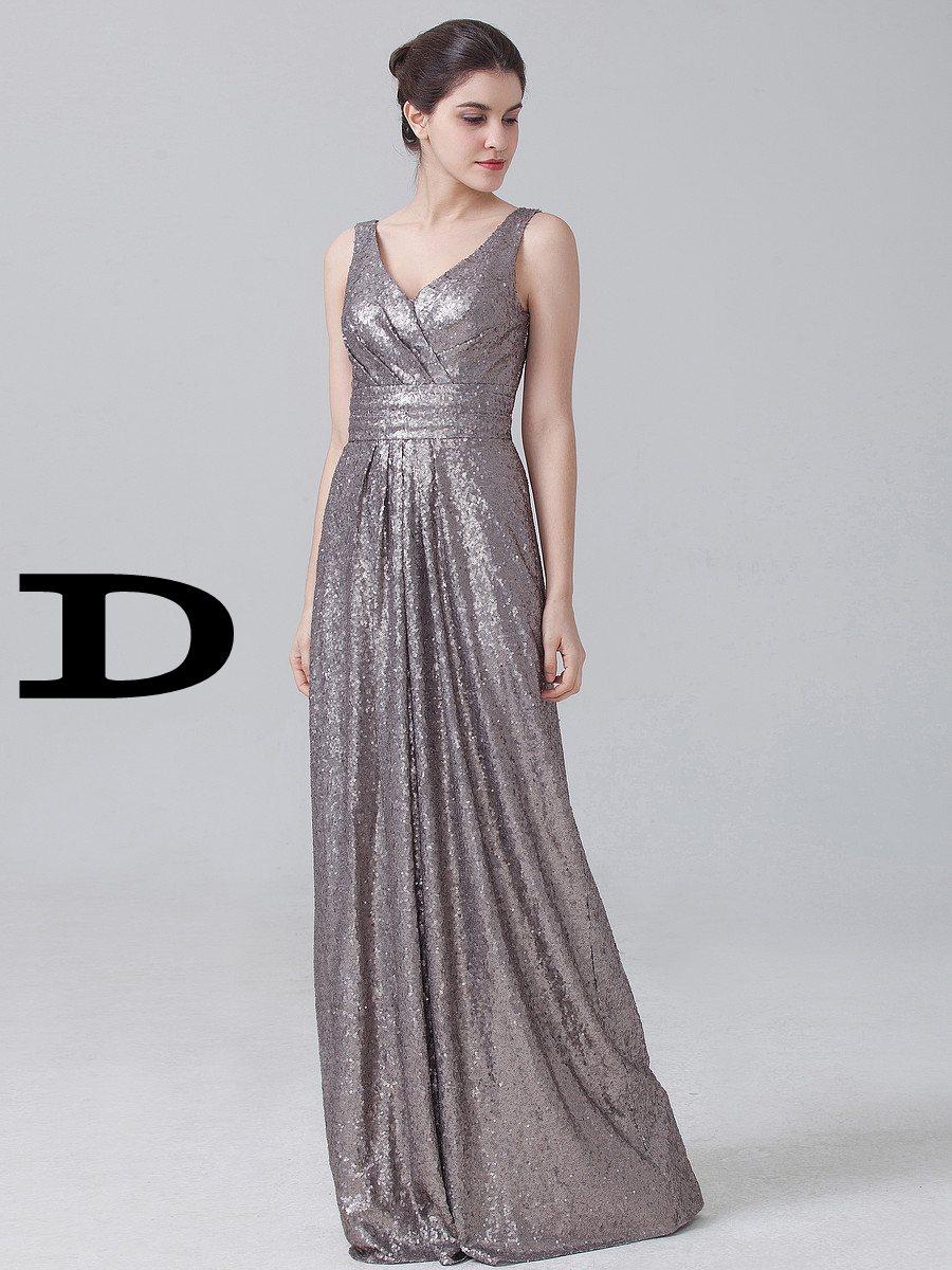 Us 1190 Sparkly Brautjungfer Kleid Vestido De Festa 4 Stile Goldene Hochzeit Partei Kleid Champagne Rose Gold Pailletten Brautjungfer Kleid Heißer