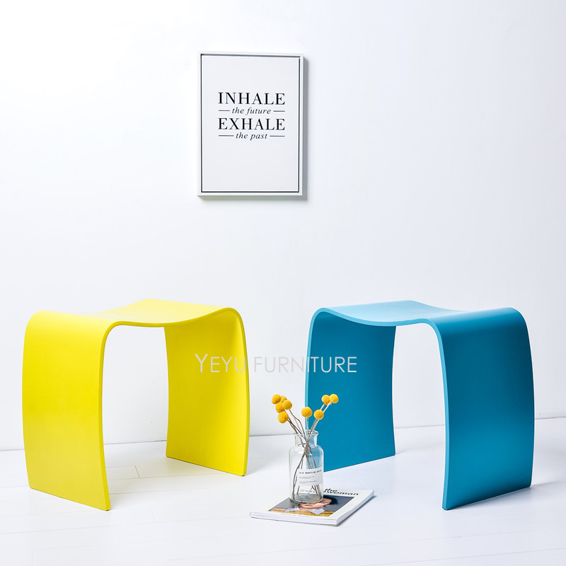 Fashion Modern Design plywood Low Stool Chair wooden Shoes Changing Stool, Colorful Ottomans Living Room Wood Leisure Stool 1pc