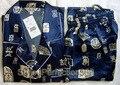 Бесплатная доставка! темно-синий мужская Полиэстер Сатин Одеяние Pajama Наборы Пижамы Пижамы РАЗМЕР Sml XL XXL XXXL ZT-3