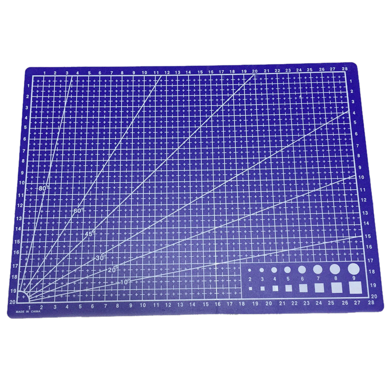 10pack (A4 Grid Lines Cutting mat Craft Card Fabric Leather Paper Board 30*22cm Blue top quality pvc rectangle self healing cutting mat tool non slip craft quilting printed professional double sided cutting mat