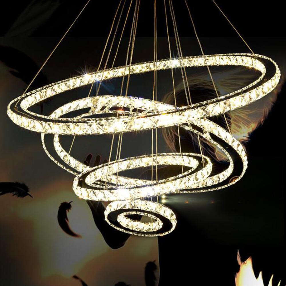 Nordic Modern Lustre Led Crystal Glass Chandelier Lighting Ceiling Hanging Chandeliers Light Fixtures for Living Room Home Decor