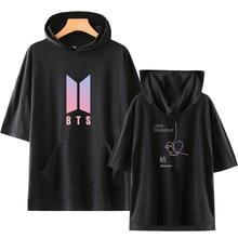 hot deal buy luckyfridayf bts harajuku love yourself answer kpop print short sleeve hoodies sweatshirts k-pop print women/men hoodies clothes
