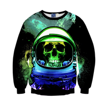 cosplay clothing long-sleeved sweater creative skull print 3D sweater youth hip-hop jacket