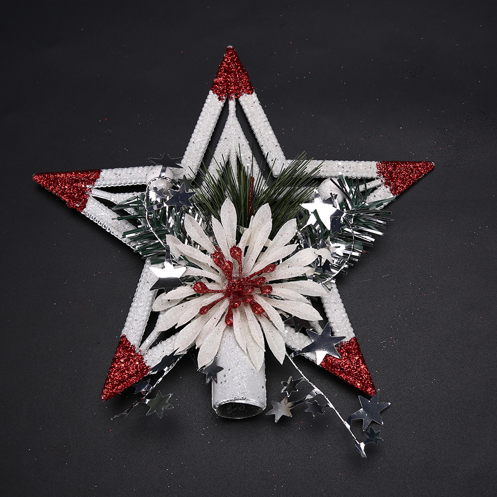 20*20cm Christmas Tree Top Star Xmas Tree Topper Ornaments For Table  Christmas Decoration Craft