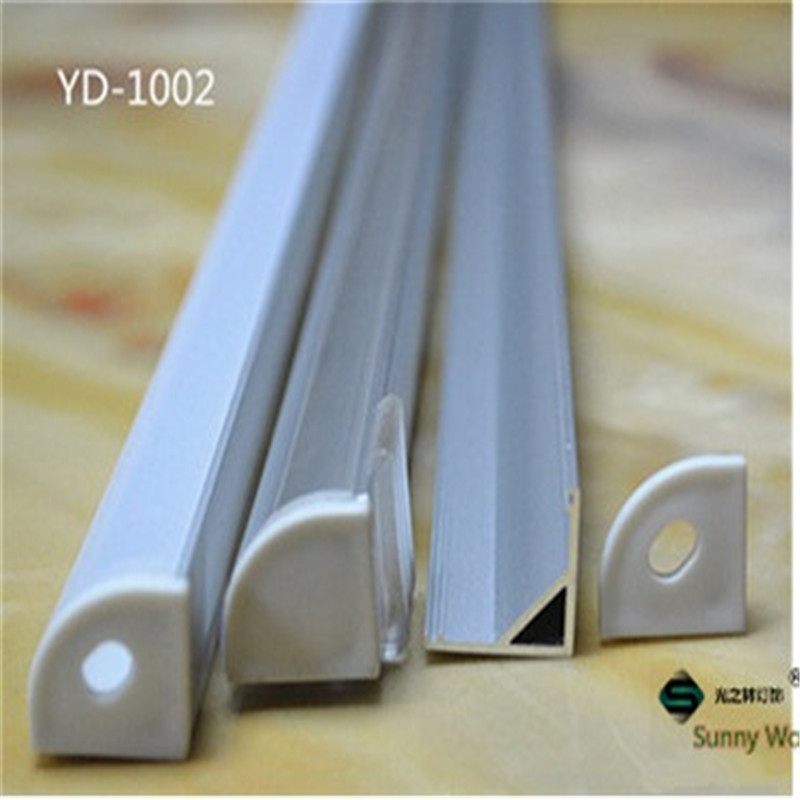 5-30pcs/lot ,40inch 1m  led aluminium profile for 10mm PCB board led corner channel for 5050 strip led bar light,YD-1002 10 40pcs lot 80 inch 2m 90 degree corner aluminum profile for led hard strip milky transparent cover for 12mm pcb led bar light