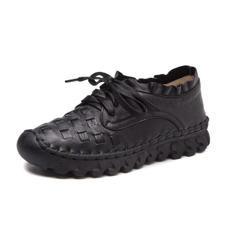 Décontractée Haute K465 4 Qualité Appartements Chaussures Sneakers 2 Femmes 1 3 Respirant De Cuir Plates Rétro Véritable En 5 7OwpqYZ