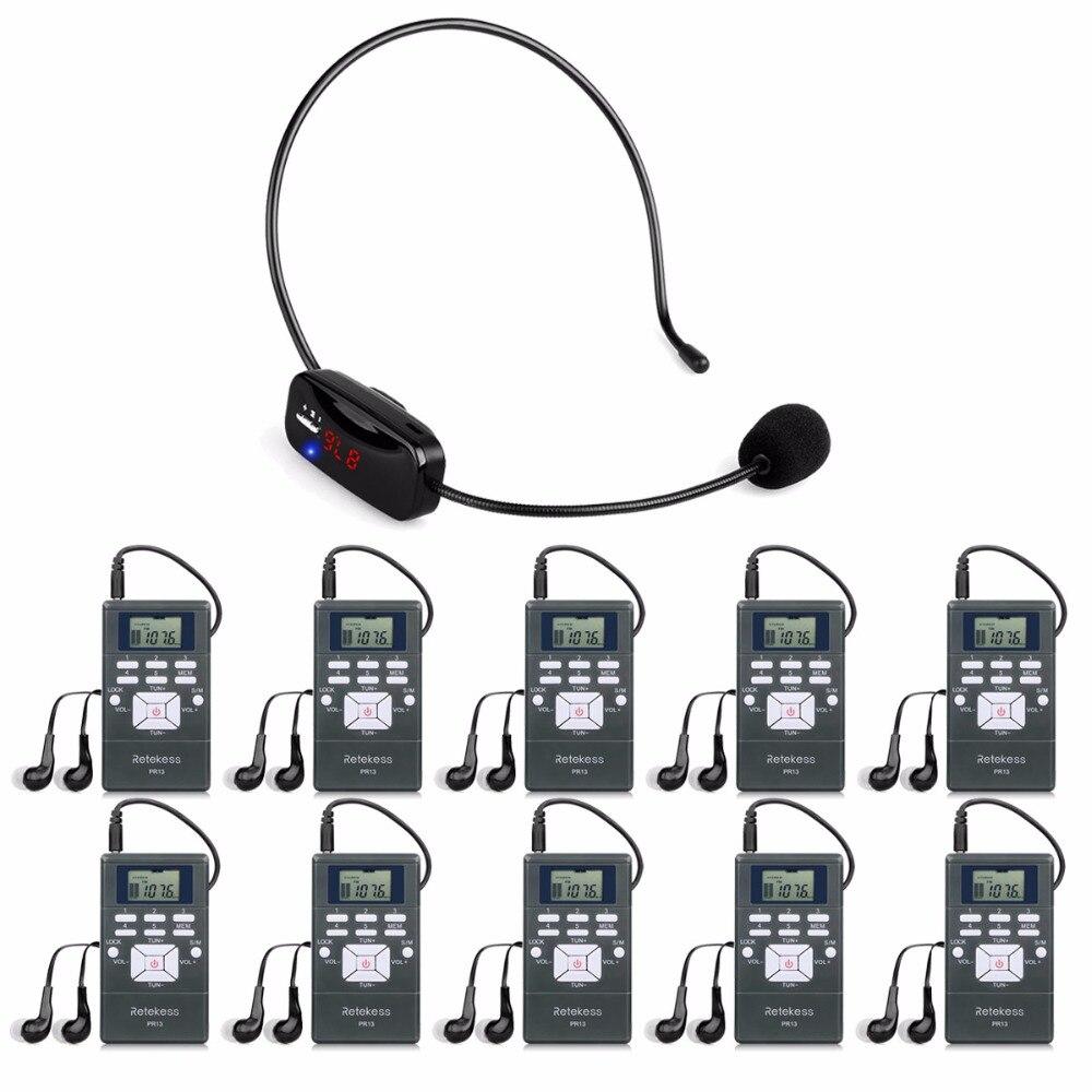 RETEKESS Senza Fili Audio Microfono Tour Sistema di Guida Lingua Sistema di Interpretazione Per La Chiesa Conferenza Museum Tour di Guida