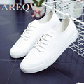 AREQW new spring and summer 2016 han edition leisure small white shoes shoes female shoes flat sheet
