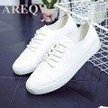 AREQW nova primavera e verão 2016 han edição de lazer sapatos folha plana pequenos sapatos brancos sapatos femininos