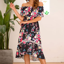 Women Sweet Floral Print Mermaid Off Shoulder Dress Female Pink Black Hollow Out Backless Patchwork Lace Dress 2019 Summer sweet white hollow out floral lace anklet for women