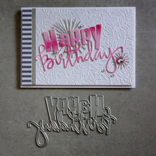YaMinSanNiO Happy Birthday Word Dies Metal Cutting for Card Making Scrapbooking Embossing Cuts Stencil Christmas Letter Die