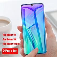 2 uds vidrio templado para Huawei Honor 10i 10 lite protector de pantalla de película protectora completa para Huawei Honor 10 lite 10i funda de vidrio