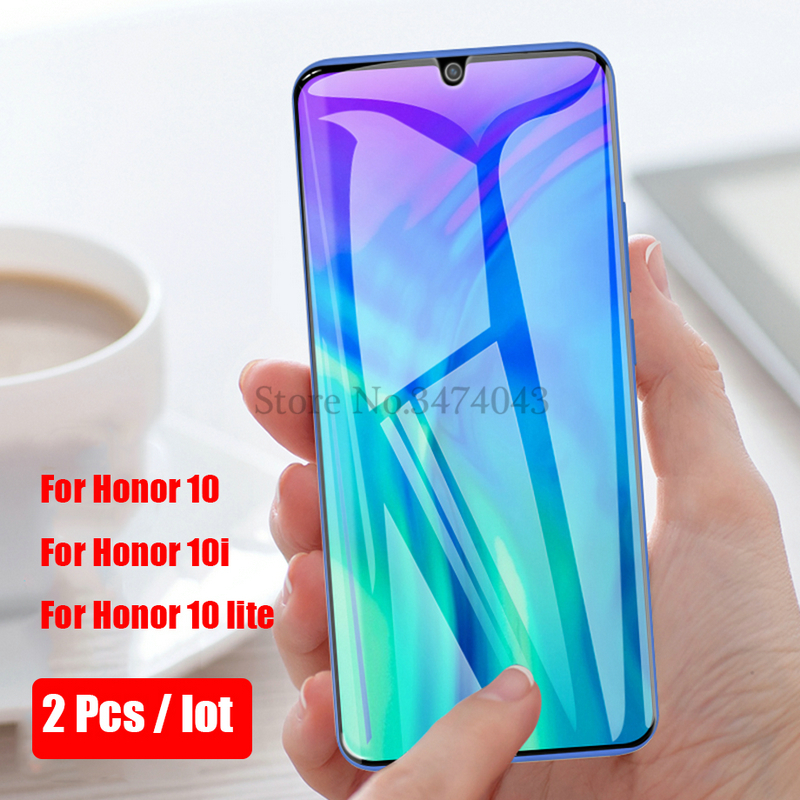 2Pcs Tempered Glass For Huawei Honor 10i 10 lite Full Protective Film Screen Protector For Huawei Honor 10 lite 10i Glass Case-in Phone Screen Protectors from Cellphones & Telecommunications