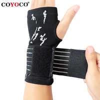 1 Pcs Pressurizable Bandage Wrist Support Palm Protect Wristband COYOCO Professional Sports Wristbands Wrist Brace Black