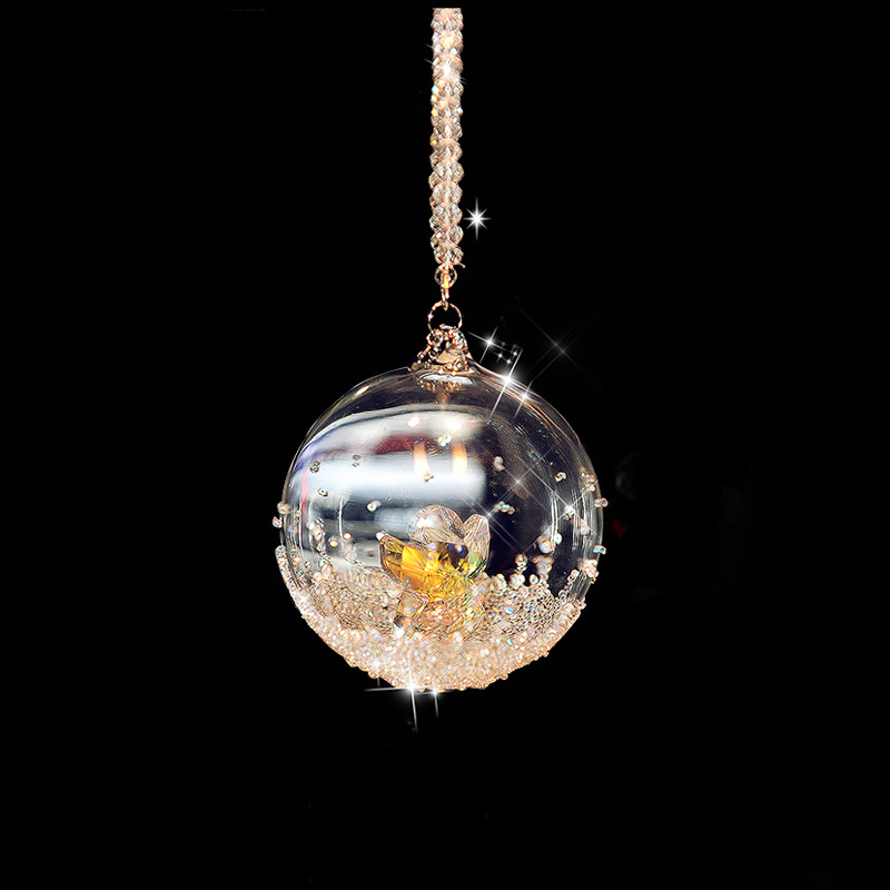 New Arrival Crystal Glass Ball with Angel inside Christmas Ornaments Room Decoration Crafts Collection DEC129