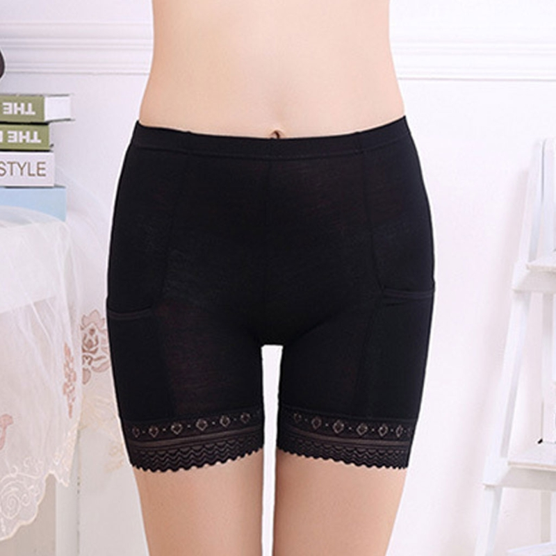 Womens Soft Pants   Leggings   With Pocket Lace Trim Solid Color