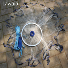 Lawaia Eco Fishing Nets USA Easy To Throw Rubber Cast Net Cord American Style Fly Hand Network