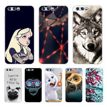 For Huawei Honor 9 Case Soft Silicone TPU Back Cover For Huawei Honor 9 Phone Cases 3D Cute Cat Shell For Honor 9 Lite Case Bags
