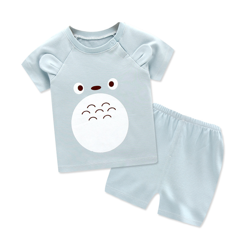 Hot Sale Baby Summer Short Sleeve Suits New Baby Cotton Clothes 2 Piece Set Cartoon Body Sets For Girls And Boys