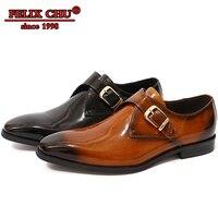 Luxury Italian Genuine Leather Men Casual Shoes Men Black Brown Hasp Slip On Men Formal Suit Shoes Footwear For Business Office