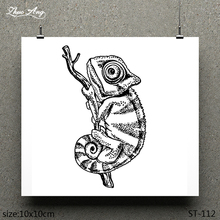 ZhuoAng Timid Lizard Pattern Design Clear Stamp / Scrapbook Rubber Craft Card Seamless