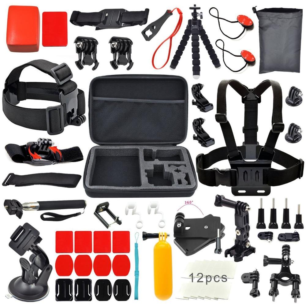 For Xiaomi Yi Set Accessories Kit for Gopro Go pro HD hero 4 Session 4 3+ 3 2 SJCAM sj4000 sj5000 sj6000