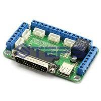Ücretsiz Kargo!! MACH3 5 eksenli CNC Step Motor Kontrol kurulu Breakout kurulu arayüz kartı + bir usb Kablosu