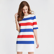 Spring and summer long section Sweaters Women Sweaters and Casual Women Fashion Striped Short Sleeve Sweater
