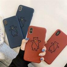 Mate lindo oso impresión cubierta del teléfono para Samsung Galaxy S10 S9 S8 más S7 S6 borde Nota 5 8 piedra arenisca suave TPU de silicona Funda
