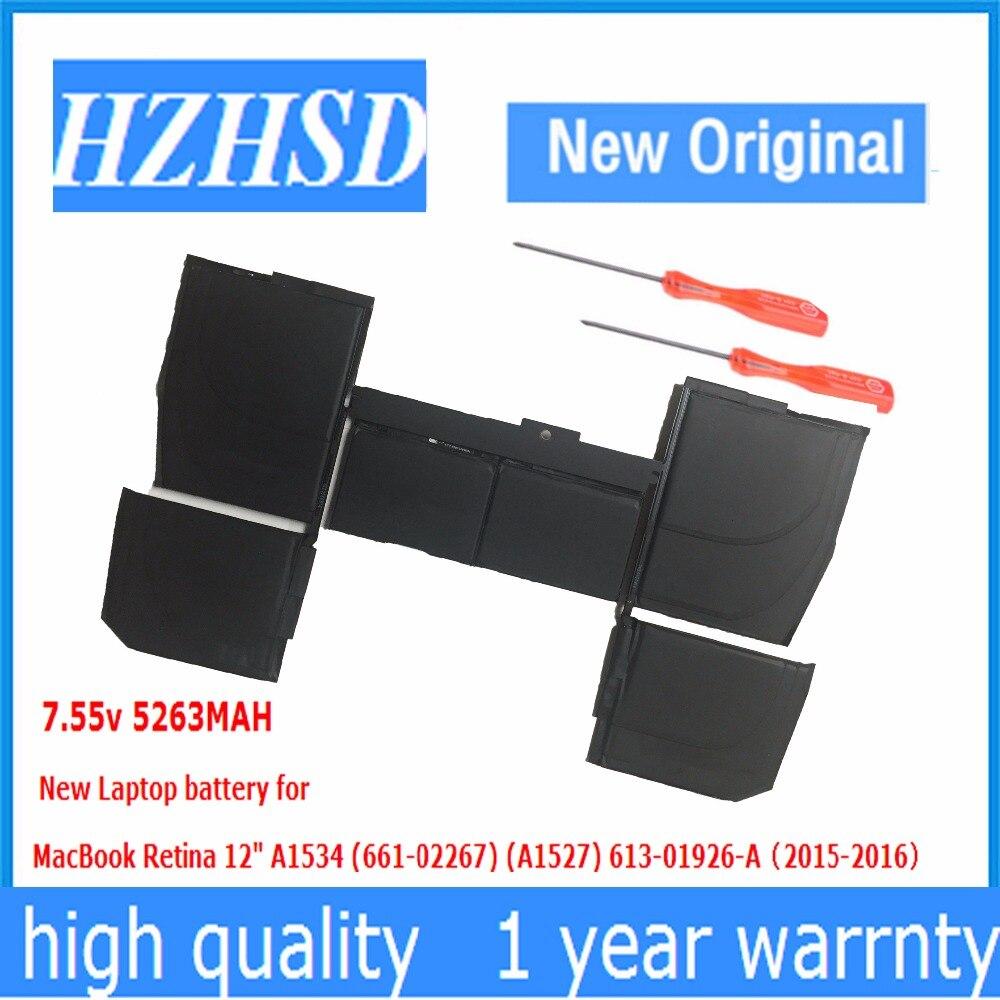7.55 V 5263 MAH Nouvelle Batterie D'ordinateur Portable D'origine pour Apple macbook pro retina 12