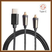 OKCSC TYPE-C Earphone Cables MMCX Headphone Cords Button Control With Mic for xiaomi 6/Huawei P20/HTC U11 Plus/Sony xperia xz2