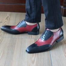 Феликс Чу черный и красный Повседневная Натуральная кожа Мужские модельные туфли классический британский оксфорды плоская подошва Свадебная вечеринка костюм обуви 185-810