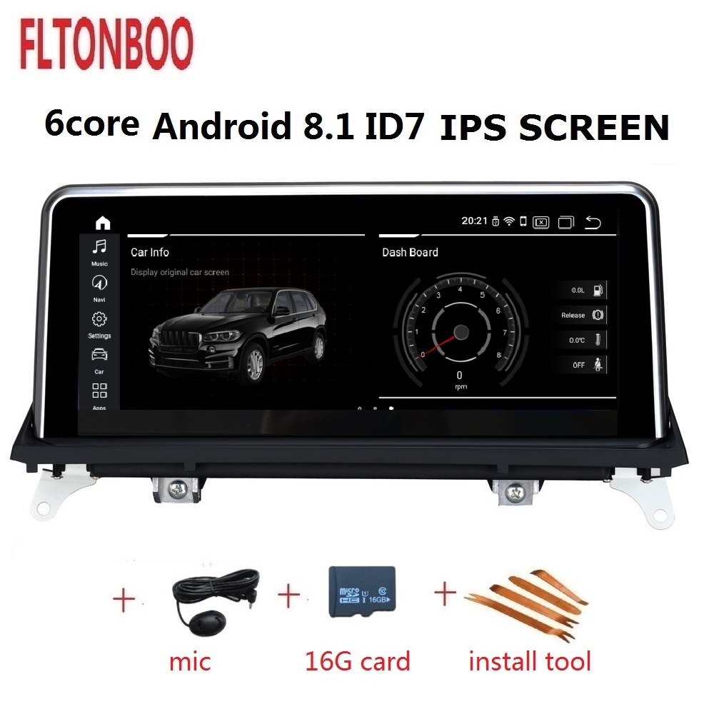 10.25 inch Android 8.1 Car Gps radio plyaer navigation ID7 for BMW X5 X6 E70 6 core 2GB RAM 32GB ROM support wifi bluetooth