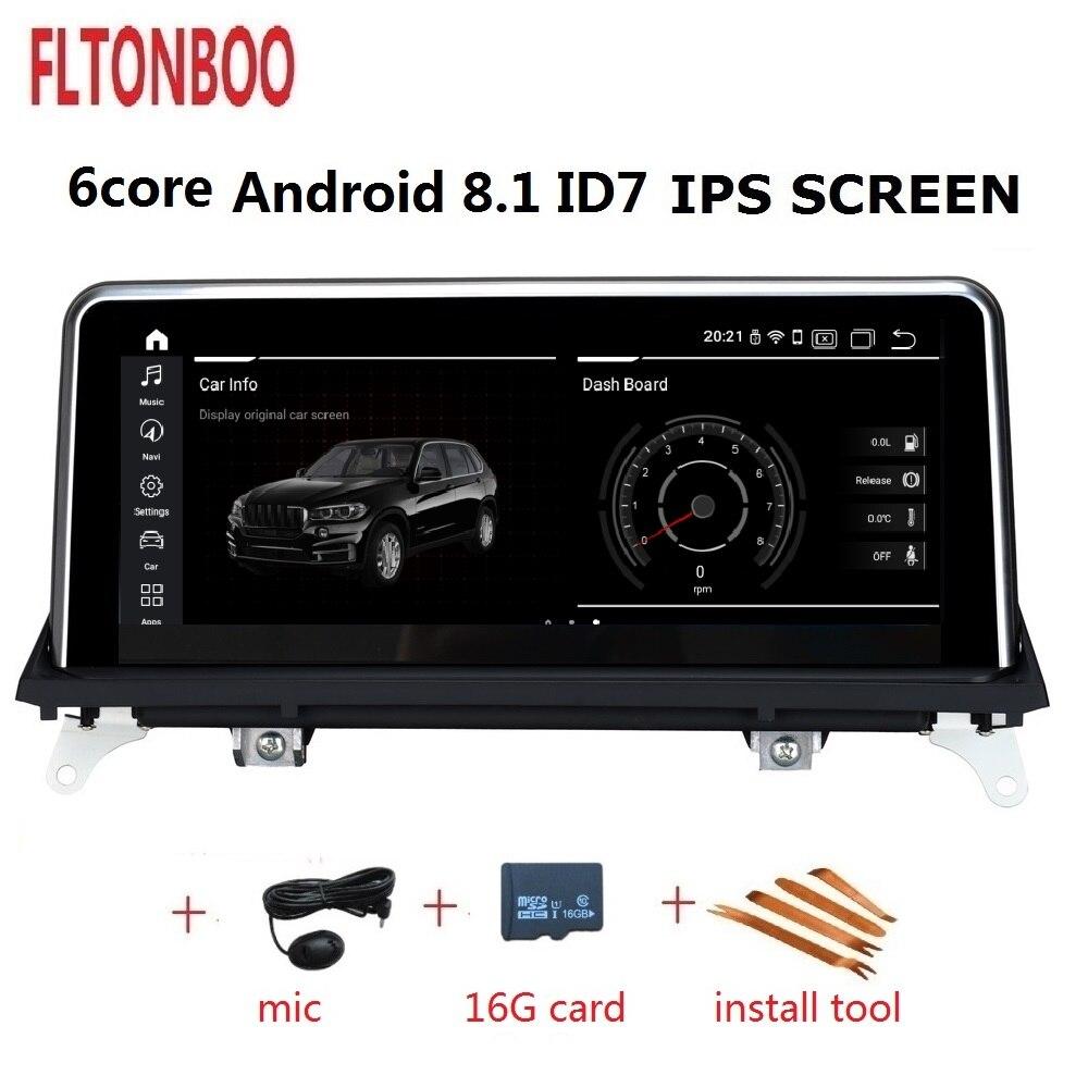 10.25 polegada Android 8.1 rádio Do Carro Do Gps de navegação para BMW X5 X6 E70 plyaer 6 core 2 GB RAM 32 GB ROM suporte wifi bluetooth