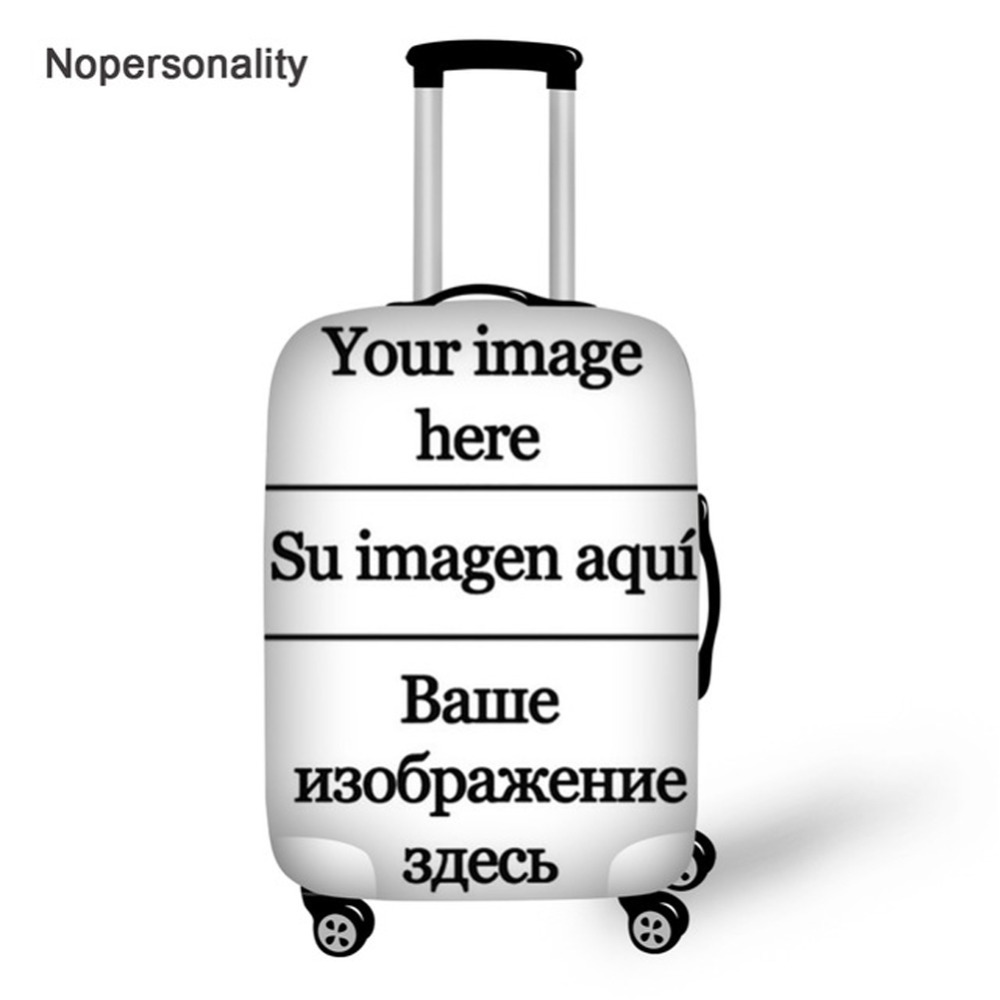 Customize Image Logo Suitcase Cover Elastic 18/20/22/24/26/28/30/32inch Luggage Protective Dust Cover Travel Accessories