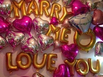 Globos creativos románticos de 16 pulgadas para casamiento, diseño de globos de aluminio, suministros de decoración, globos de aluminio, envío gratis