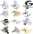 Free Shipping Fashion Cufflinks Sport Anchor Design Brass Material Cuff Links Gift For Seaman