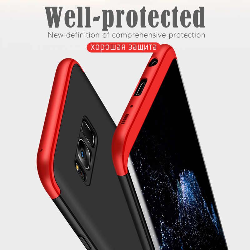360 градусов Полный Защитные чехлы для samsung Galaxy S8 плюс Примечание 8 чехол Armor жесткий задняя крышка для Galaxy J3 j5 J7 2017 оболочки мешок