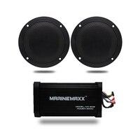 4 канальный 500 Вт Морской Bluetooth мотоцикл аудио усилитель лодка USB MP3 стерео + 4 Морские водонепроницаемые настенные колонки