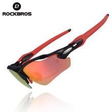 ROCKBROS Multicolor Coating Polarized Sunglasses Sports Eyewear Cycling Glasses Mtb Bike goggles with Myopia Frame for Men Women